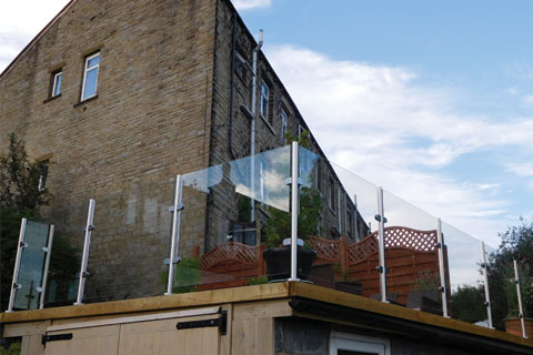 stainless and glass balustrade elevation view
